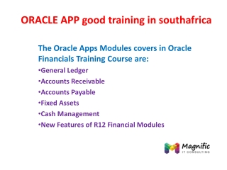ORACLE APP good training in southafrica