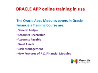 ORACLE APP online training in usa