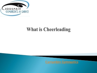 What is Cheerleading?