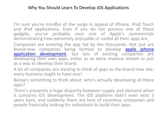 app development iphone
