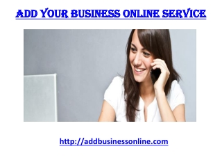 Add Your Business Online Service