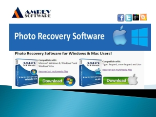 Amrev Photo Recovery Software for Mac