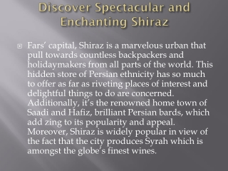 Find flights to Shiraz from London