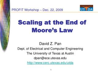 Scaling at the End of Moore s Law