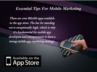 Essential Tips For Mobile Marketing