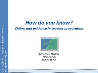 How do you know Claims and evidence in teacher preparation