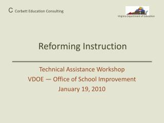Reforming Instruction