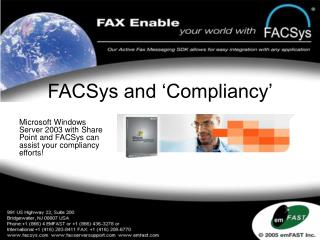 FACSys and  Compliancy