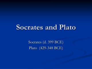 Socrates and Plato
