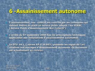 6 -Assainissement autonome