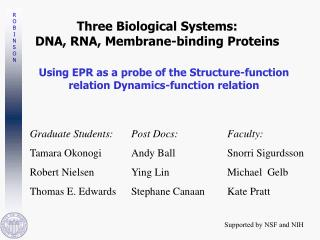 Three Biological Systems: DNA, RNA, Membrane-binding Proteins