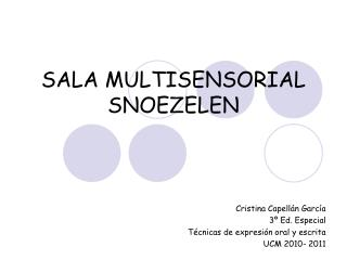 SALA MULTISENSORIAL SNOEZELEN
