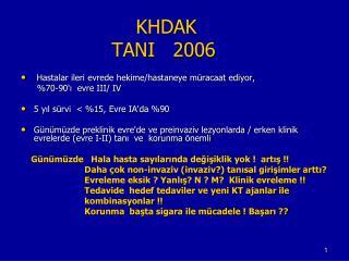 KHDAK                TANI   2006