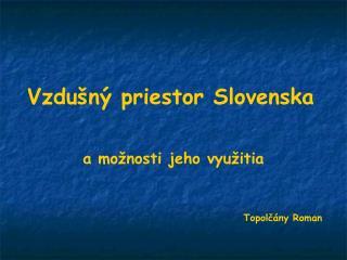 Vzdu n  priestor Slovenska