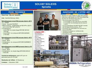 SOLVAY SOLEXIS   Spinetta