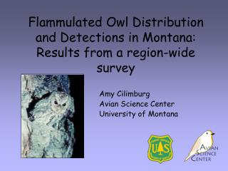 Flammulated Owl Distribution and Detections in Montana: Results from a region-wide survey