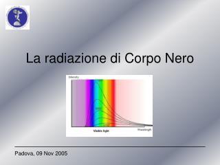 La radiazione di Corpo Nero