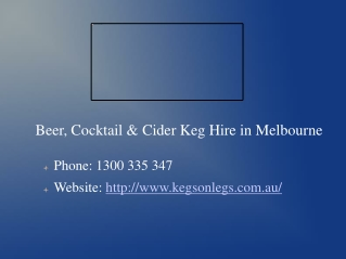 Kegs for Hire in Melbourne