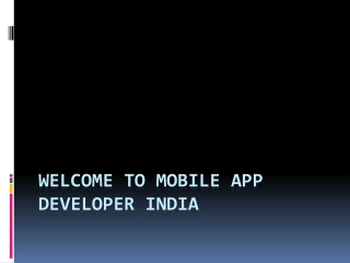 Mobile App Developer India