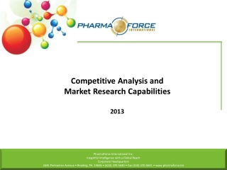 Competitive Analysis and Market Research Capabilities