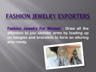 Fashion Jewelry Exporters