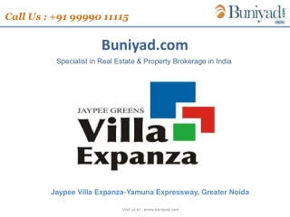 Jaypee offers new Villa Expanza For ooking Call 9999011115