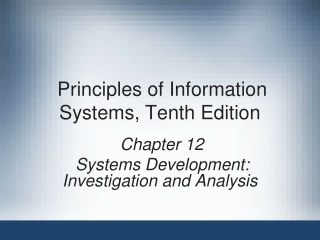 Systems Investigation and Analysis
