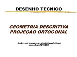 DESENHO T CNICO