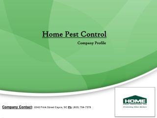 Home Pest Control Company Profile