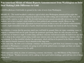 pan american metals of miami reports announcement from washi