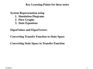Key Learning Points for these notes