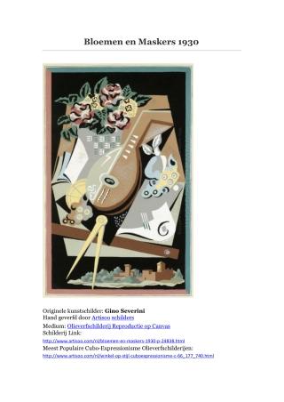 Bloemen en Maskers 1930 -- Artisoo