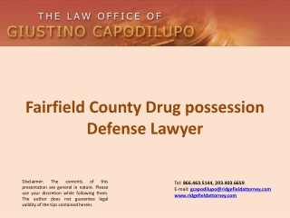 Fairfield County Drug possession Defense Lawyer