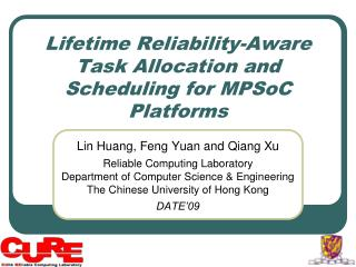 Lifetime Reliability-Aware Task Allocation and Scheduling for MPSoC Platforms