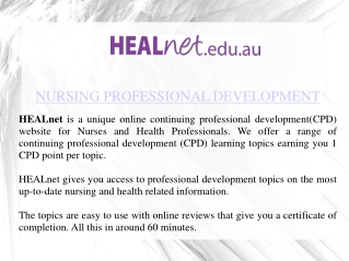 Nursing Education Courses