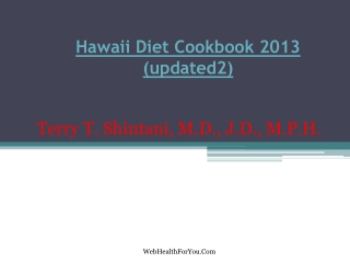 Hawaii Diet Cookbook 2013 (updated2) 12