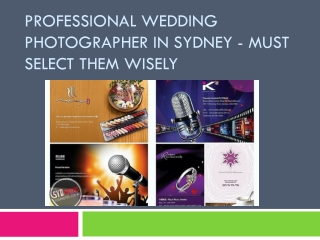 Professional Wedding Photographer in Sydney - Must Select Th