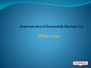 Important facts of Successfully Sharing a Car