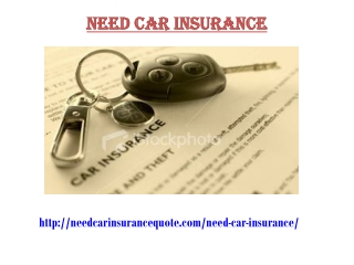 Need Car Insurance
