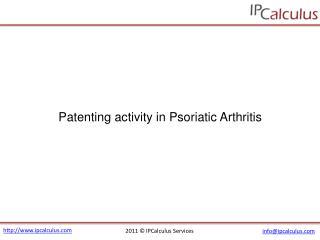 ipcalculus - psoriatic arthritis patenting activity