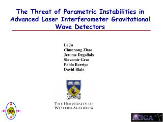 The Threat of Parametric Instabilities in Advanced Laser Interferometer Gravitational Wave Detectors
