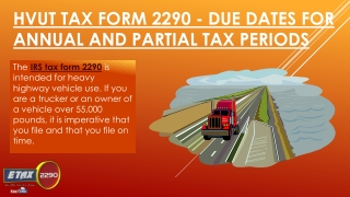 Filing Your IRS Tax Form 2290