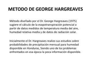 METODO DE GEORGE HARGREAVES