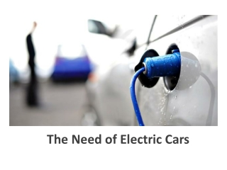 The Need of Electric Cars