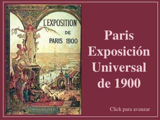 Paris Exposici n Universal de 1900