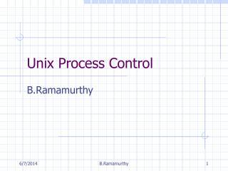 Unix Process Control