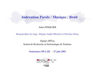 Indexation Parole
