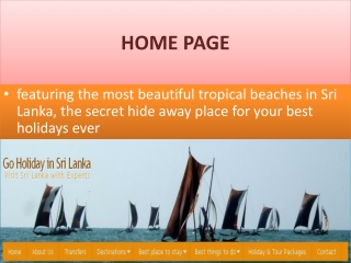 Go Holiday to Sri Lanka with Experts