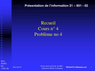 Recueil Cours n  4 Probl me no 4