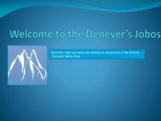 Denver's Jobs